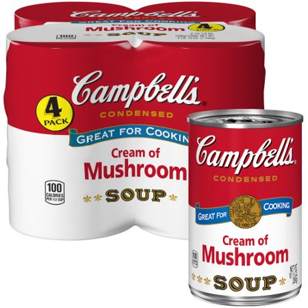 (8 Cans) Campbell's Condensed Cream of Mushroom Soup, 10.5 - Gold Trim Cream Soup