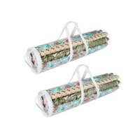 Elf Stor Wrapping Paper Gift Wrap Storage Bag for 31 Inch Rolls | 2 Pack