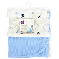 Parent's Choice Thermal Receiving Blankets, Blue, 2 Pack