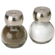 Mainstays Glass Salt and Pepper Shakers, Set of 2