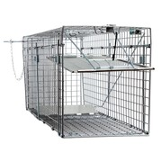 """Large One Door Collapsible Catch Release Heavy Duty Cage Live Animal Trap for Gophers, Racoons, Possums, Groundhogs, Beavers, and Other Similar Sized Animals, 32""""x10""""x12"""""""