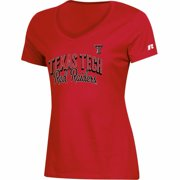 7e29f8039f3 Women's Russell Red Texas Tech Red Raiders Arch V-Neck T-Shirt