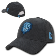 NCAA Columbia University Lions Structured Corduroy Baseball Caps Hats  Charcoal 2d62d7207fd6