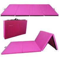 "BalanceFrom GoGym All-Purpose 4'x10'x2"" Extra Thick High Density Anti-Tear Gymnastics Gym Folding Exercise Aerobics Mats"