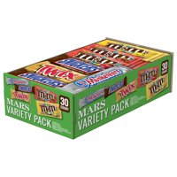 Mars Chocolate, Full Size Candy Bars Variety Pack, 53.68 Oz, 30 Ct