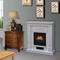 Bold Flame 38 inch Wall/Corner Electric Fireplace in White