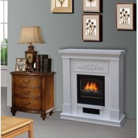 Bold Flame 38 inch Wall/Corner Electric Fireplace Heater in White