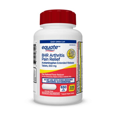 Equate Acetaminophen Extended-Release Tablets, 650 mg, 225 - Acetaminophen Pm Tablets