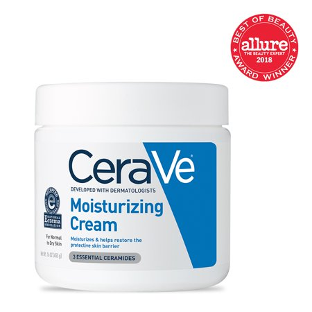 CeraVe Moisturizing Cream, Face and Body Moisturizer, 16 oz. (Free 16 Oz Body Emulsion)
