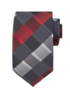 DXL Men's Extra Long B&T Plaid Tie