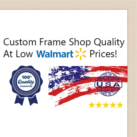 6x9 6 X 9 White Wash Flat Solid Wood Frame With Uv Framers