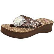 1aac35cb60807 Blazin Roxx Western Shoes Womens Megan Flip Flops Floral 41106