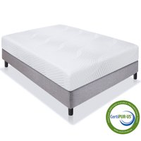 Best Choice Products 10in Full Size Dual Layered Medium-Firm Memory Foam Mattress w/ Open-Cell Cooling, CertiPUR-US Certified Foam, Removable Cover
