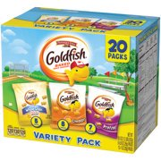 Pepperidge Farm Goldfish Sweet & Savory Crackers, 19.5 oz. Variety Pack Box, 20-count Snack Packs