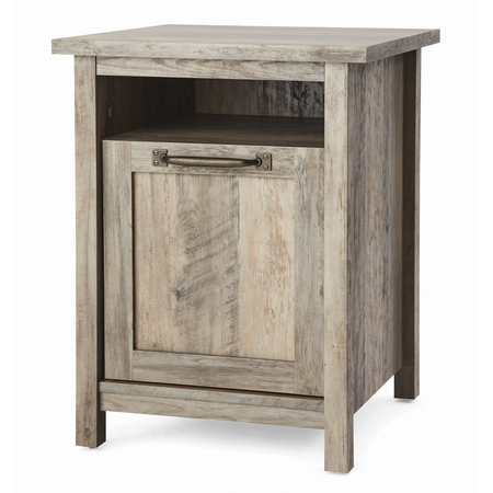 Better Homes & Gardens Modern Farmhouse Nightstand With USB, Rustic Gray Finish ()