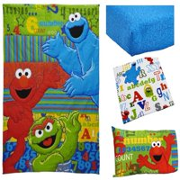 Sesame Street ABC123 4-Piece Toddler Bedding Set