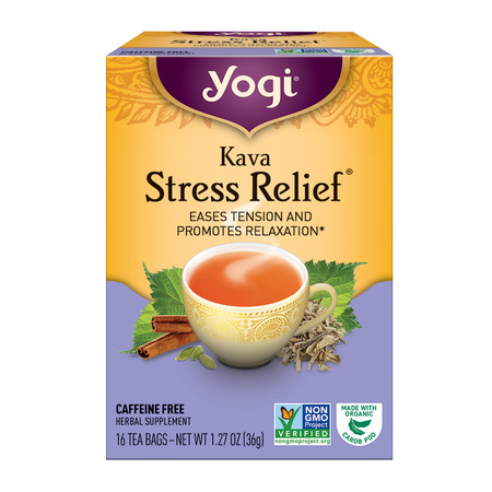 (6 Boxes) Yogi Tea, Kava Stress Relief Tea, Tea Bags, 16 Ct, 1.27 (Yogi Berra Photograph)