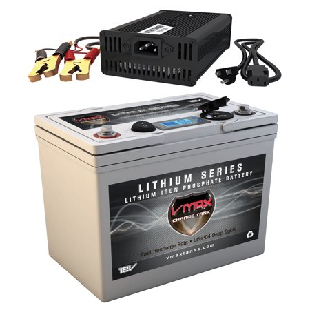 VMAXTANKS VPG12C-55LFP Li-Iron 12V 55AH Lithium LIFEPO4 Battery for Minn Kota Endura C2 40 Trolling Motors + 10A