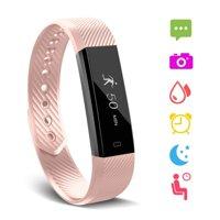 Fitness Tracker, Waterproof Activity Tracker with Heart Rate Monitor Bluetooth Multiple Sport Modes Smart Watch Wireless Smart Bracelet Sleep Monitor Pedometer Wristband for Kids Women Men
