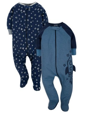 Organic Cotton Jersey Sleep N' Plays, 2pk (Baby Boy)