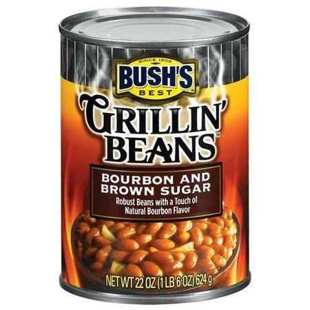 (4 Pack) Bush's Grillin' Beans, Bourbon & Brown Sugar, 22 (Brown Sugar Baked Beans)