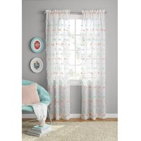 Your Zone Girls Pom Pom Bedroom Curtain