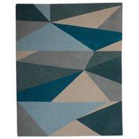 MoDRN Scandinavian Colorblock Triangles Indoor Area Rug