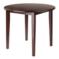 Winsome Wood Clayton Round Drop Leaf Dining Table, Walnut Finish