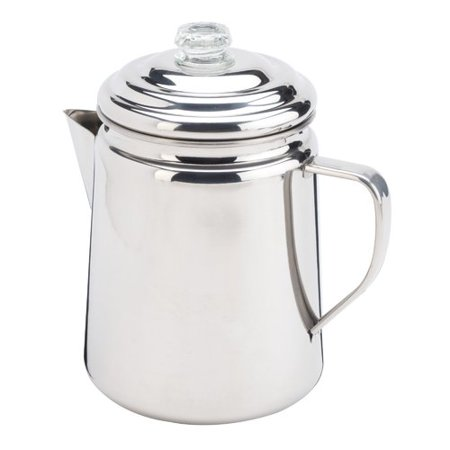 - Coleman Stainless Steel Percolator, 12 Cup