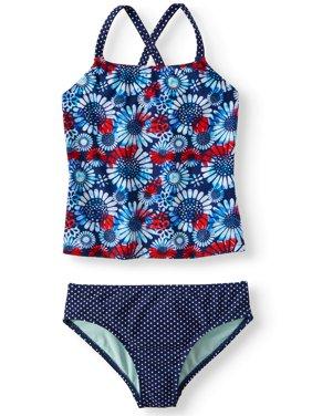 Cross-back Tankini Swimsuit (Little Girls, Big Girls & Big Girls Plus)