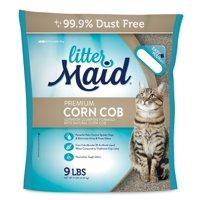 (2 Pack) Littermaid Corn Cob Natural Clumping Cat Litter, 9-lb