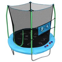 Skywalker Trampolines 7.5-Foot Trampoline, with Double Toss Game, Teal