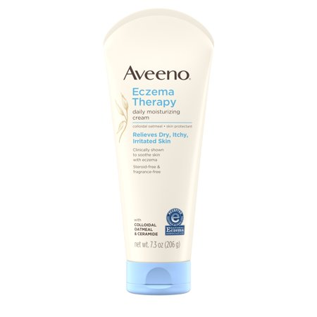 Aveeno Eczema Therapy Daily Moisturizing Cream with Oatmeal, 7.3 (La Source Hand Therapy Cream)