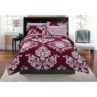 Mainstays Classic Noir Gray Bed in a Bag Coordinated Bedding