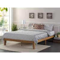 "Zinus Alexia 12"" Wood Platform Bed, Rustic Pine Finish, Queen"