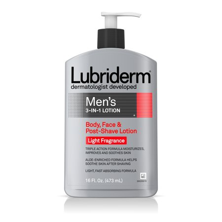 Lubriderm Men's 3-In-1 Moisturizing Lotion with Aloe, 16 fl. (Mens Lotion)