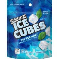 Ice Breakers Ice Cubes Peppermint Flavor Gum, 100 Pieces, 8.11 Oz.