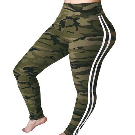 Camo Ufo Pants (Fancyleo Women Fashion High Waisted Pencil Pants Camo Casual Long Pants )