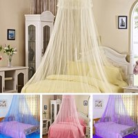 Girl12Queen Elegant Lace Insect Bed Canopy Netting Curtain Round Dome Mosquito Net Bedding