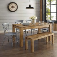 Better Homes & Gardens Bryant Solid Wood Dining Bench, Rustic Brown