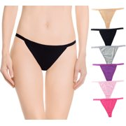 81cf4bacbce6 Nabtos Sexy Women's Underwear Cotton Panties G String T-Back Thongs  Lingerie (Pack of