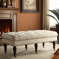 Isabelle Tufted Bench, Multiple Sizes and Colors