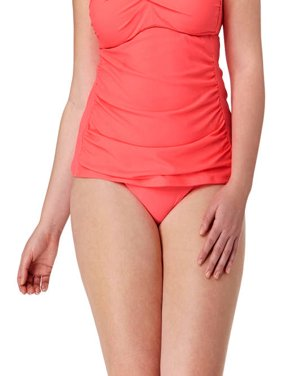Collections By Plus-Size Solid High Waist Bikini Swimsuit Bottom