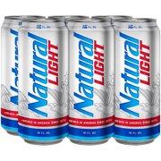Natural Light Beer, 6 pack, 16 fl oz