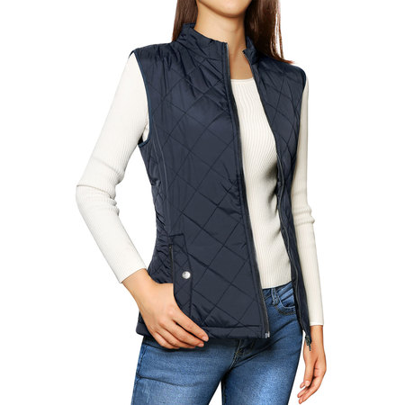 Women's Zip Up Quilted Padded Vest (Buffalo Plaid Vest Women)