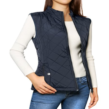 Women's Zip Up Quilted Padded Vest ()