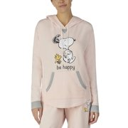 9ef239b180947e Peanuts women s and women s plus long sleeve hoodie with screen-print and  kangaroo pocket.