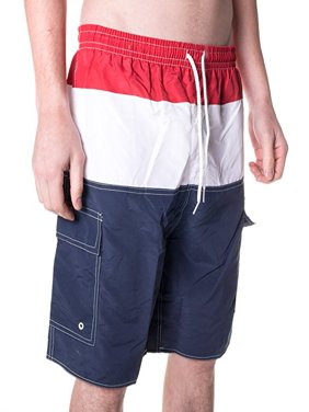 North 15 Men's Swim Trunks With Cargo Pokcets-5110-Rd-Nv-Md