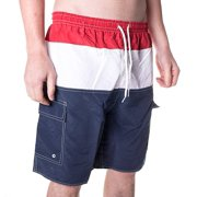 d6e5438a8f4 North 15 Men's Swim Trunks With Cargo Pokcets-5110-Rd-Nv-Md