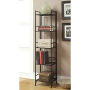 Convenience Concepts Designs2Go Metal Folding 5 Shelf Bookcase, Multiple Finishes